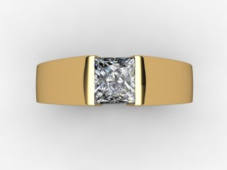 Certificated Princess-Cut Diamond Solitaire Engagement Ring in 18ct. Gold - 12
