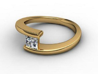Certificated Princess-Cut Diamond Solitaire Engagement Ring in 18ct. Gold-02-2800-2248
