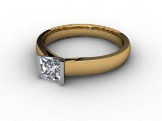 Certificated Princess-Cut Diamond Solitaire Engagement Ring in 18ct. Gold-02-2800-2299