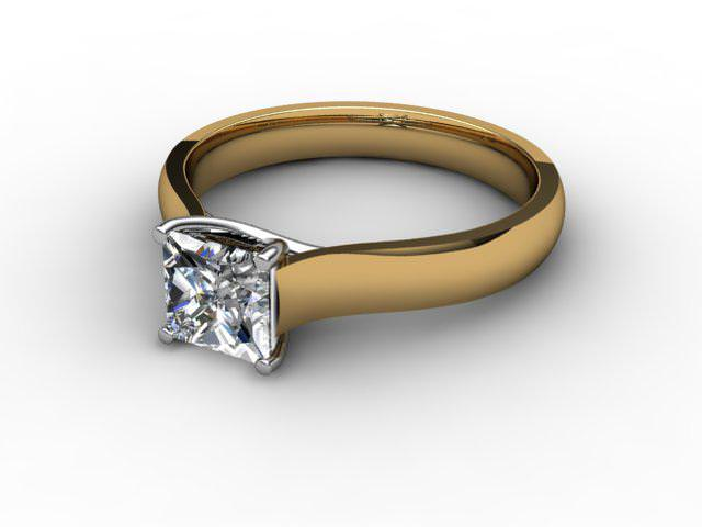 Certificated Princess-Cut Diamond Solitaire Engagement Ring in 18ct. Gold