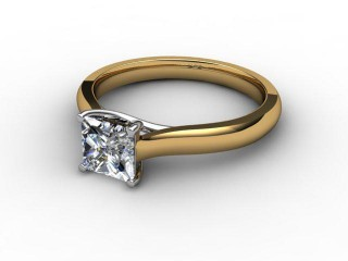 Certificated Princess-Cut Diamond Solitaire Engagement Ring in 18ct. Gold-02-2800-6047