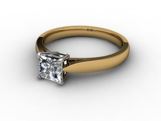 Certificated Princess-Cut Diamond Solitaire Engagement Ring in 18ct. Gold-02-2800-6048