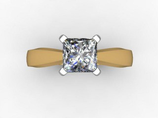 Certificated Princess-Cut Diamond Solitaire Engagement Ring in 18ct. Gold - 9