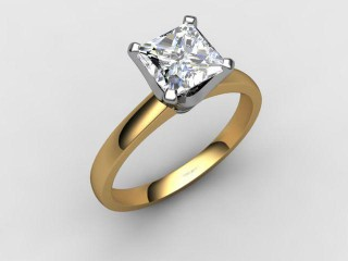 Certificated Princess-Cut Diamond Solitaire Engagement Ring in 18ct. Gold-02-2800-6143