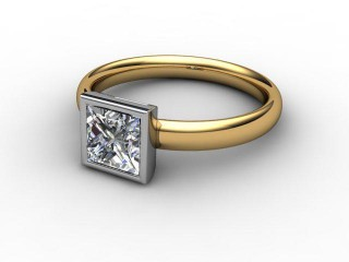 Certificated Princess-Cut Diamond Solitaire Engagement Ring in 18ct. Gold-02-2800-6146