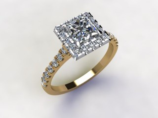 Certificated Princess-Cut Diamond in 18ct. Gold - 12