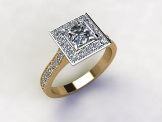 Certificated Princess-Cut Diamond in 18ct. Gold - 12