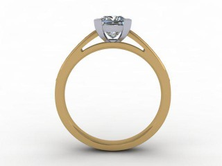 Certificated Princess-Cut Diamond in 18ct. Gold - 3