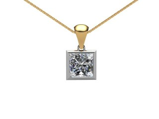 Certified Princess-Cut Diamond Pendant-02-28001
