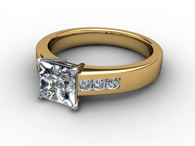 Certificated Princess-Cut Diamond in 18ct. Gold - Main Picture