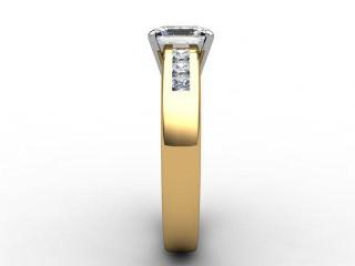 Certificated Princess-Cut Diamond in 18ct. Gold - 9