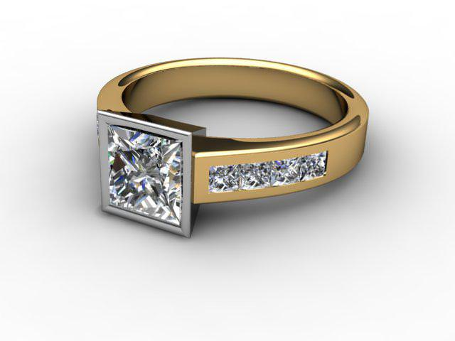 Certificated Princess-Cut Diamond in 18ct. Gold
