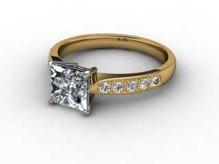 Certificated Princess-Cut Diamond in 18ct. Gold-02-2810-0709