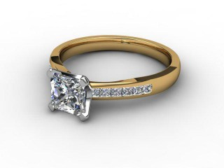 Certificated Princess-Cut Diamond in 18ct. Gold-02-2812-6145