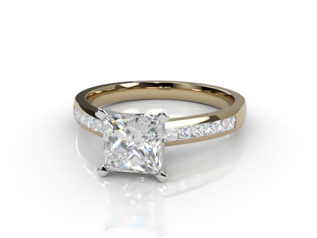 Certificated Princess-Cut Diamond in 18ct. Gold