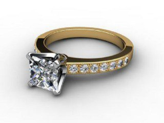 Certificated Princess-Cut Diamond in 18ct. Gold-02-2814-6141