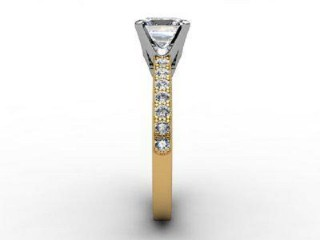 Certificated Princess-Cut Diamond in 18ct. Gold - 6