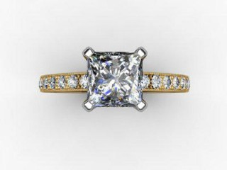 Certificated Princess-Cut Diamond in 18ct. Gold - 9