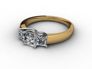 Trilogy 18ct. Yellow Gold Princess Diamond-02-2833-2307
