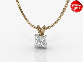 Certified Princess-Cut Diamond Pendant-02-28911
