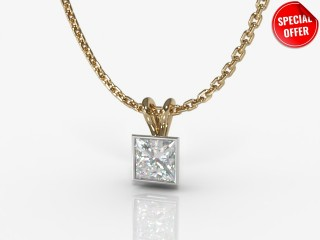 Certified Princess-Cut Diamond Pendant-02-28912