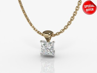 Certified Princess-Cut Diamond Pendant-02-28913