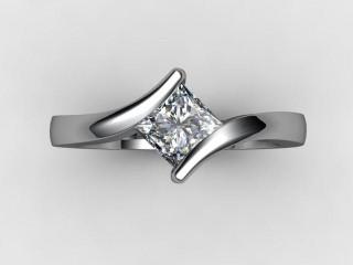 Certificated Princess-Cut Diamond Solitaire Engagement Ring in Palladium - 12