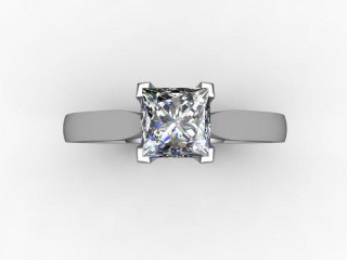 Certificated Princess-Cut Diamond Solitaire Engagement Ring in Palladium - 9