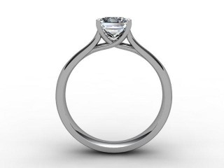 Certificated Princess-Cut Diamond Solitaire Engagement Ring in Palladium - 3
