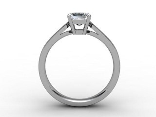 Certificated Princess-Cut Diamond Solitaire Engagement Ring in Palladium - 6
