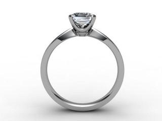 Certificated Princess-Cut Diamond Solitaire Engagement Ring in Palladium - 3