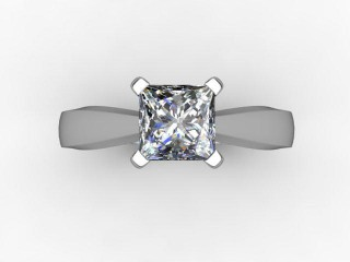 Certificated Princess-Cut Diamond Solitaire Engagement Ring in Palladium - 12