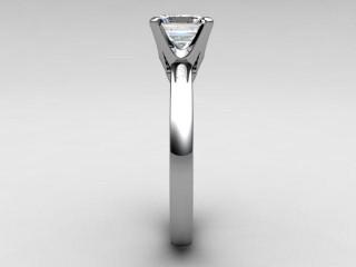Certificated Princess-Cut Diamond Solitaire Engagement Ring in Palladium - 6