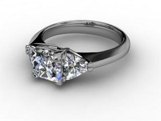 Certificated Princess-Cut Diamond in Palladium-02-6602-8041
