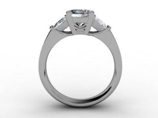 Certificated Princess-Cut Diamond in Palladium - 6
