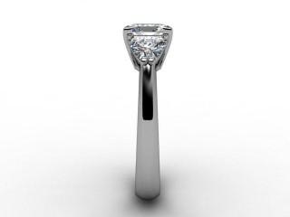 Certificated Princess-Cut Diamond in Palladium - 9