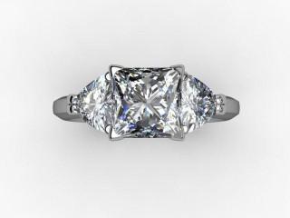 Certificated Princess-Cut Diamond in Palladium - 12