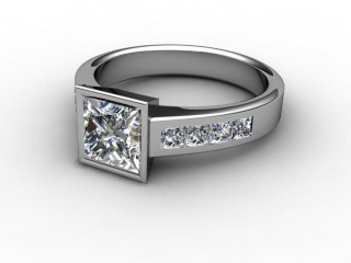 Certificated Princess-Cut Diamond in Palladium-02-6608-2223