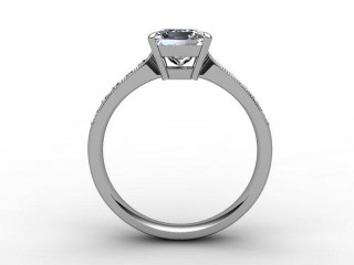Certificated Princess-Cut Diamond in Palladium - 3