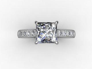 Certificated Princess-Cut Diamond in Palladium - 9