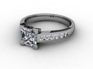 Certificated Princess-Cut Diamond in Palladium-02-6612-2253
