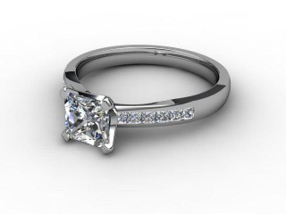 Certificated Princess-Cut Diamond in Palladium