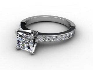 Certificated Princess-Cut Diamond in Palladium-02-6614-6141