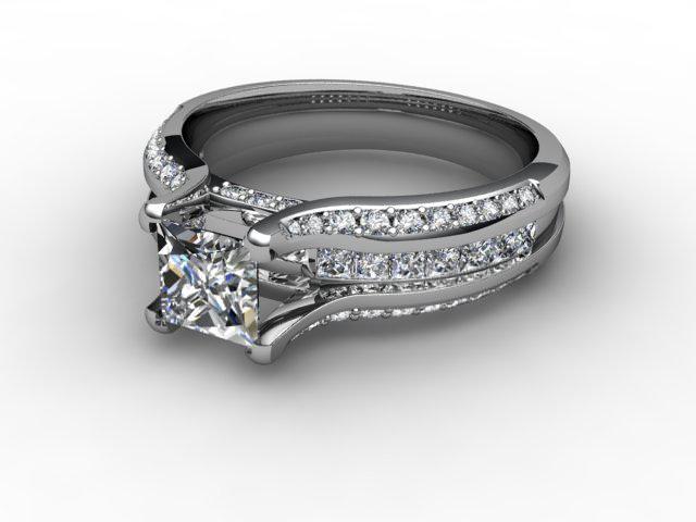 Certificated Princess-Cut Diamond in Palladium