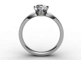 Certificated Oval Diamond Solitaire Engagement Ring in Platinum - 6