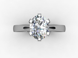 Certificated Oval Diamond Solitaire Engagement Ring in Platinum - 12