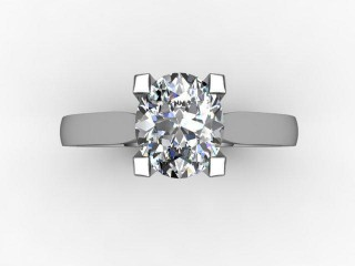 Certificated Oval Diamond Solitaire Engagement Ring in Platinum - 9