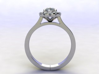 Certificated Oval Diamond in Platinum - 3