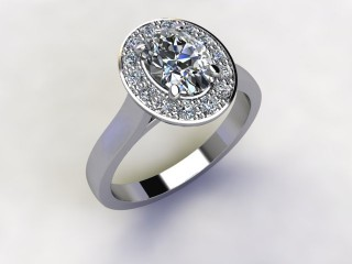 Certificated Oval Diamond in Platinum - 12
