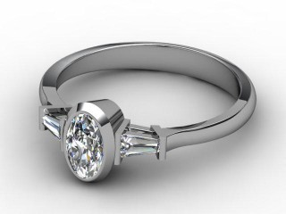Certificated Oval Diamond in Platinum-03-0102-6237